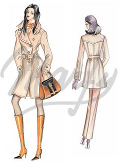 Patrons coupés à la main :: Patron de couture 1752 -