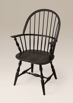 Winthrop Windsor Armchair with a Antiqued Black over Red Finish.