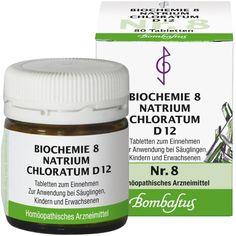 BIOCHEMIE 8 Natrium chloratum D 12 Tabletten:   Packungsinhalt: 80 St Tabletten PZN: 01073751 Hersteller: Bombastus-Werke AG Preis: 1,97…