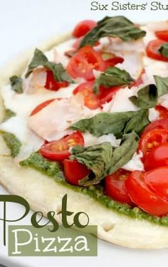 Mediterranean Flatbread Pizza | Six Sisters' Stuff