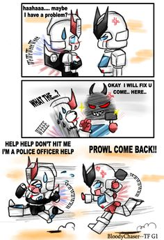Prowl is in trouble by BloodyChaser on deviantART