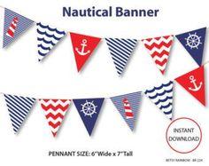 Free Printable Nautical Banner cakepins.com