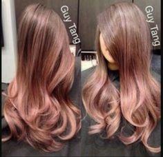 Rose hair colour