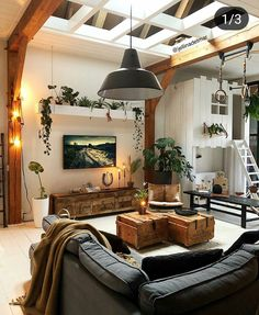 Outstanding small living room designs are offered on our site. Home Living Room, Living Room Designs, Living Room Decor, Cool Living Room Ideas, Modern Living Rooms, Earthy Living Room, Cozy Living, Modern Room, House Rooms