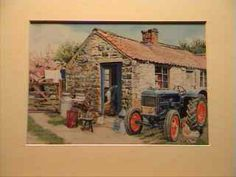 Vintage Fordson in Farmyard. Available as 10″ x 8″ Mounted Print. $5.50 plus p+p.