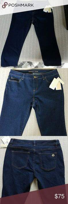 NWT Michael Kors Skinny Capri Size 4 Brand new with tags and never worn skinny capri jeans. Color is overdyed indigo. Michael Kors Pants Capris