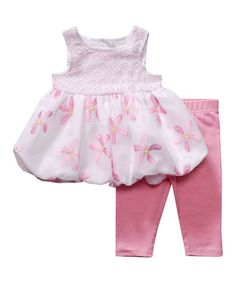 Another great find on #zulily! Pink Bubble Dress & Leggings - Infant by Youngland #zulilyfinds