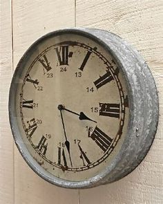 """galvanized love retro clock....""""It's about time there's a safe and pure Skin Care Apriori Beauty."""" Time for you to join my TEAM! This time next year you'll be glad that you did! http://aprioribeauty.com/IC/KathysDaySpa https://www.facebook.com/AprioriBeautyKathysDaySpa"""