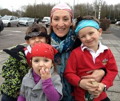 WE'RE WEARING OUR BANDANAS as a family for Hammer Out  ~  Admiral Group rep, Swansea