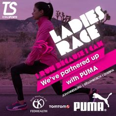 We've partnered up with Puma for the Totalsports Ladies Race. #TSrun #TSrunpink