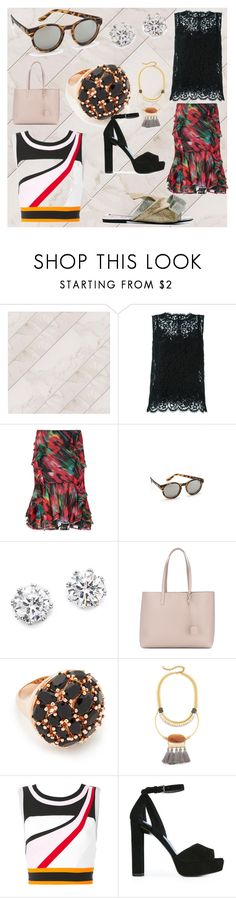 """""""New Products"""" by mkrish ❤ liked on Polyvore featuring Dolce&Gabbana, Jason Wu, Le Specs, Kenneth Jay Lane, Yves Saint Laurent, Bronzallure, David Aubrey, No Ka'Oi and Stuart Weitzman"""
