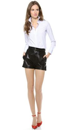DSQUARED2 LEATHER SHORTS  COOL, but I'm more into the shoes :)