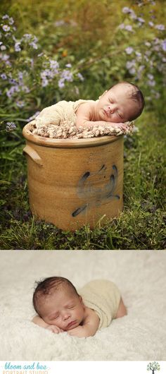 outdoor newborn baby session - natural light photography - Bloom and Bee Portraits - Guilderland NY
