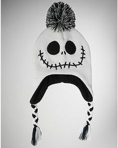 0bdca54a419 Nightmare Before Christmas Pom Laplander Baby Hat - Spencer s