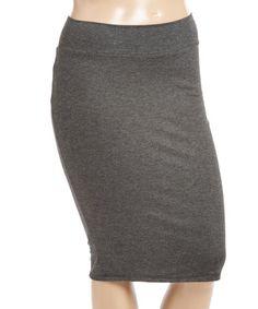 Look at this #zulilyfind! Charcoal Pencil Skirt - Plus #zulilyfinds