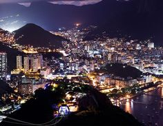 Coming in to land at Rio at night was like a huge Christmas tree with lights sparkling brighter the lower we went down.