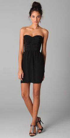 Another LBD - strapless! I own a few of these (Rebecca Taylor and DVF)