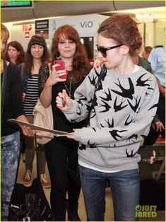 Lily at the airport on Tuesday (August 20) in Berlin, Germany.