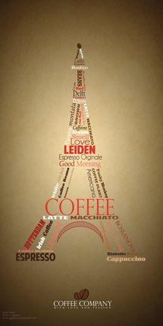 Eiffel Tower by *Ggeenss coffee Coffee Talk, I Love Coffee, Coffee Break, Coffee Shop, Coffee Cups, Coffee Lovers, Tour Eiffel, Latte Macchiato, Coffee Company