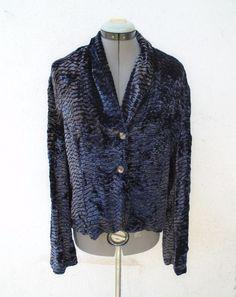 CITRON SANTA MONICA Purple Velvet Blazer Jacket Size M #CitronSantaMonica #BasicJacket