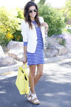 dress!! love the color blue w/ white stripes. Style is perfect.