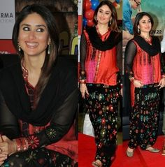 Kareena Kapoor Wear Beautiful Patiala Salwar Kameez New Fashion Suits  by Bollywood Designers-2