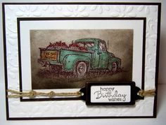 CQC135 Antiqued Truck countryside; hardware; twine