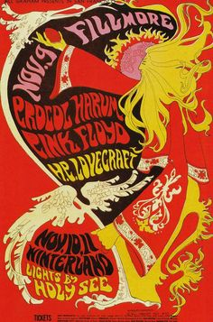 Pink Floyd | at Fillmore Auditorium | lights by Holy See | concert poster