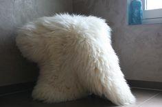Witte Nederlandse schapenvacht van http://www.schaapsvacht.nl