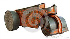 Photo about This is an isolated image of an antique toy tractor road roller with a single drum wheel in front. Image of wheel, roller, diesel - 71725432 Antique Toys, Drum, Tractors, Objects, Stock Photos, Orange, My Favorite Things, Antiques, Metal