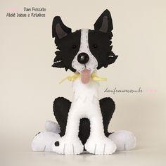 Ideias e Retalhos por Dani Fressato: Cachorros de Feltro Personalizados