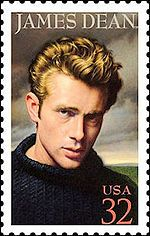 actor James Dean was killed in Cholame, California, when the Porsche he was driving hit a Ford Tudor sedan at an intersection. Postage Stamp Design, Postage Stamps, James Dean, Rockabilly, Commemorative Stamps, Old Movie Stars, Stamp Collecting, My Stamp, Famous Faces