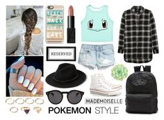 """""""POKEMON style"""" by natleite ❤ liked on Polyvore featuring mode, Madewell, Pottery Barn, Casetify, NARS Cosmetics, Converse, Forever 21, MANGO, Illesteva et Vans"""