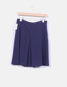 Falda midi azul marina Zara nueva con etiquetas, Micolet