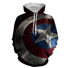 Captain America Badge 3D Printed Hoodie
