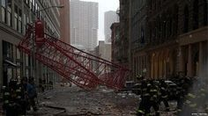 BBC Breaking News @BBCBreaking  2m2 minutes ago At least 1 person killed after crane collapses in New York City - New York fire department http://bbc.in/1mhZwnT   - Embedded image permalink