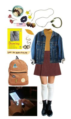 """Yellow Feelings"" by alliebernice ❤ liked on Polyvore featuring A.P.C., Wild Pair, Madewell, Nivea, Billabong and Hot Topic"