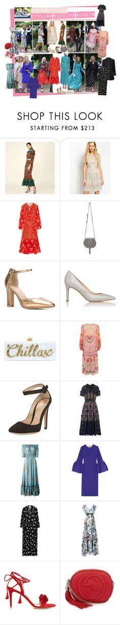 """""""Pippa Middleton's Stylish Wedding Guests"""" by mf-fashion-and-styling-perth ❤ liked on Polyvore featuring Pippa, Preen, Chloé, Gianvito Rossi, L.K.Bennett, Edie Parker, Temperley London, self-portrait, Alexander McQueen and Roksanda"""