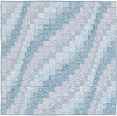 """Bargello for Baby Boy"" from the book More Twist-and-Turn Bargello Quilts by Eileen Wright"