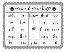 kindergarten sight words bingo Sight Word Bingo, Sight Word Practice, Sight Word Activities, Kindergarten Reading, Teaching Reading, Teaching Ideas, Reading Games, Kindergarten Classroom, Teaching Tools