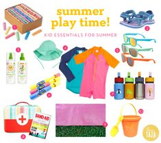 summer essentials for the kiddos! | Love Taza