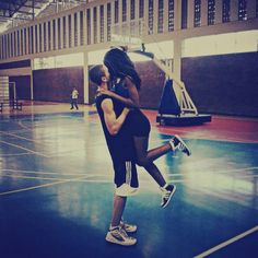 ♥+♥=♥♥ ~ Love & Basketball for this gorgeous interracial couple #love #wmbw #bwwm #favorite