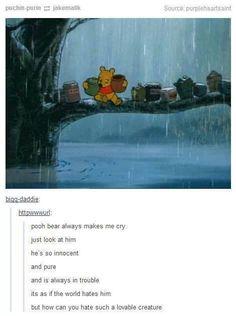 i'm fourteen but i still love my Pooh Bear (as you can tell i am so punk rock)