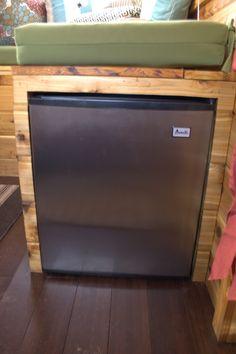 Sensible Structures -- mini-fridge under built-in couch
