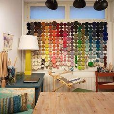 fi - hilmala at home - yarn wall - yarn stash orgacization - weaving yarn yarn Weaving Yarn, Yarn Stash, Your Photos, Organization, Photo And Video, Wall, Home, Getting Organized, Organisation