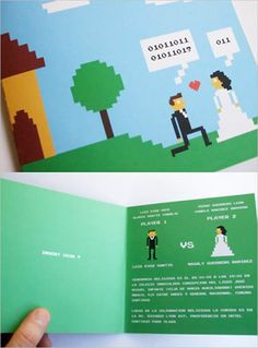 #geeky retro computer game wedding invites!    Your #1 Source for Software and Software Downloads