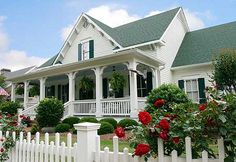 Architectural Designs County Cottage 70002CW - we supply the plans, you supply the flowers  3 porches and over 2,400 sq. ft. of living space