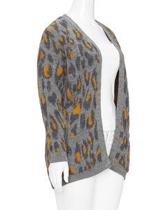 MANON BAPTISTE   Offene Strickjacke mit Animal-Muster   navabi. Winter Tops  · Winter Warmers · Cardigans ... b7b8e764a1