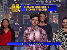 David Letterman - Top Ten Reasons I've Decided To Become a Teacher