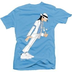 Smooth Criminal Legend Blue Tee ($30) ❤ liked on Polyvore featuring tops, t-shirts, shirts, tees, tee-shirt, blue top, t shirt, blue t shirt and blue shirt